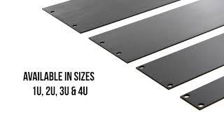 PENN ELCOM 4U Brushed Aluminum Flat Rack Panel R1275//4UAK