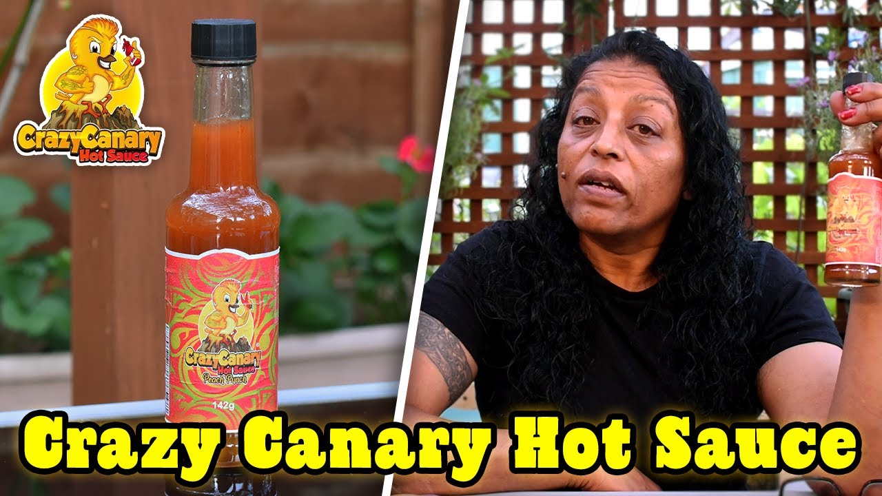 Crazy Canary Hot Sauce - BBQ Burn & Peach Punch Review   Chillin' With Chilli Sid