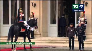 Speciale TG La7 - Giuramento del Presidente della Repubblica (03/02/2015)