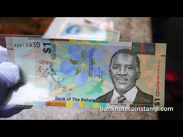 Bahamas One Dollar Banknote   Bahamas Police Force