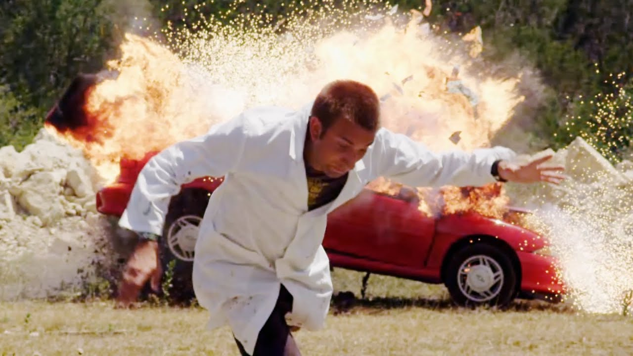 Slow Mo Car Explosion - The Slow Mo Guys