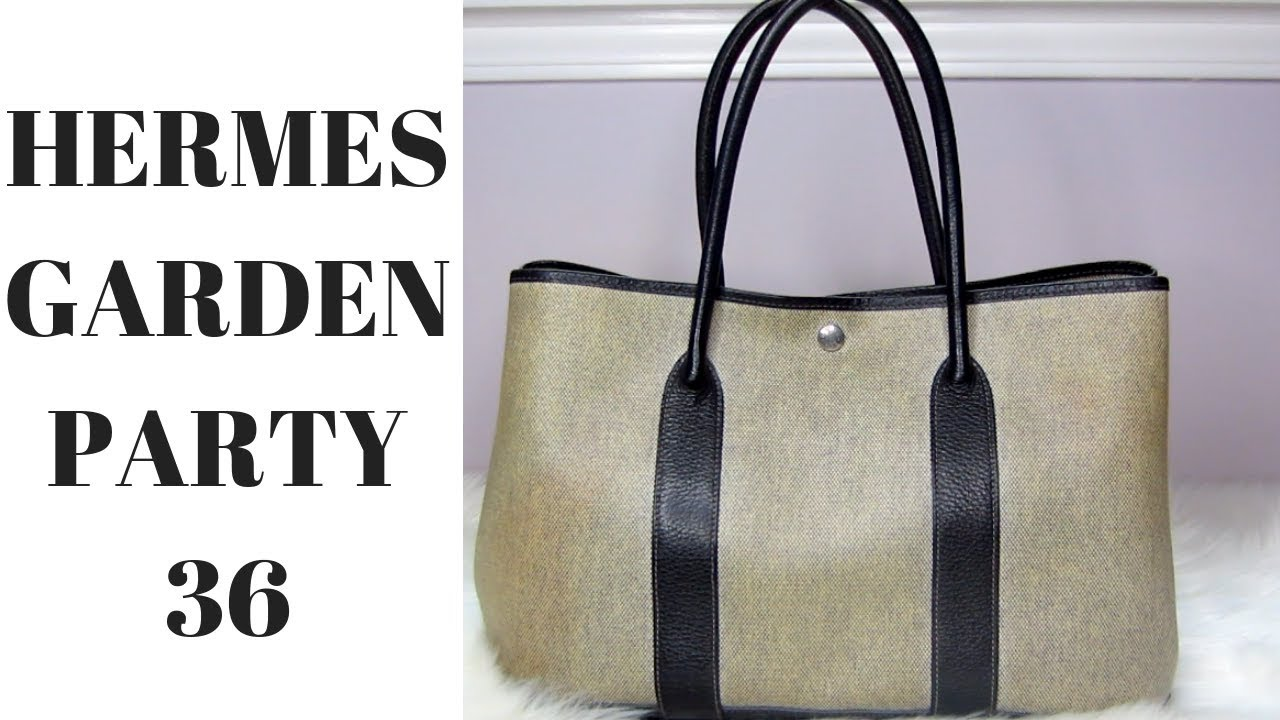 3f89053e353 Hermes Garden Party 36 in Canvas | Review - YouTube