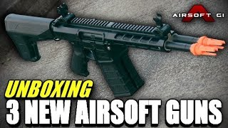 Unboxing 3 New Airsoft Guns From Airsoft GI - A Double Barreled M4