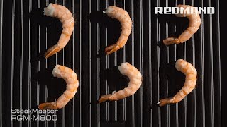 "Гриль SteakMaster REDMOND RGM-M800, рецепт ""Креветки с ананасом"""