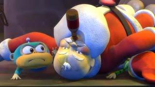 Прикольные мультики | Обезьянки из космоса -   Танец Деда Мороза (7 серия)