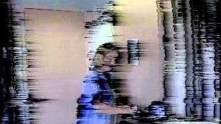 VHS footage with natural magnetic disintegration