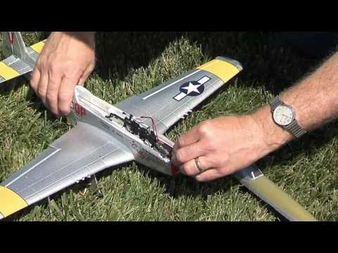 AirCore P-51 Mustang Cathy II Airframe Von Flyzone: 9709327