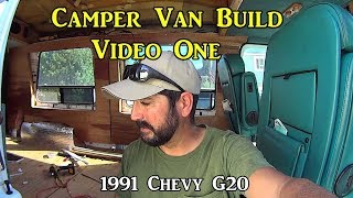 Adventure Van Build One - Tear Out, Insulation, Paneling, and Bed