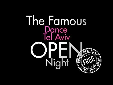 Dance TLV Open Night! 11 Jan. 2018