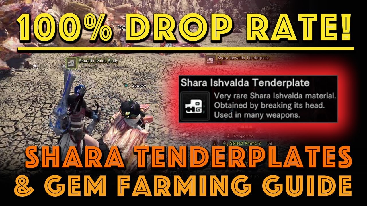 100 Drop Rate Shara Tenderplates Gem Farm Mhw Iceborne Youtube Just need shara's roars and attacks to be edited into straight bass noises. 100 drop rate shara tenderplates gem farm mhw iceborne