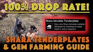 100 Drop Rate Shara Tenderplates Gem Farm Mhw Iceborne Basically, shara's moves can hit hard, but it has such an obvious windup that the stuff is easy to avoid. 100 drop rate shara tenderplates gem farm mhw iceborne