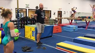 Vault drills and stations for Beginner Girls Gymnastics