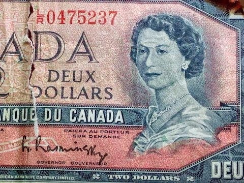 Hard To Find $2 Bills: 1954 Canada - 104 Million In Circulation