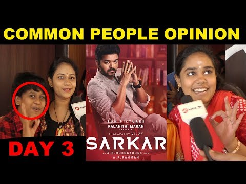 Sarkar Movie Common People Opinion | Vijay | AR.Murugadoss | Kollywood | sarkar update