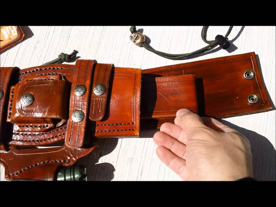 how to make a knife sheath without leather