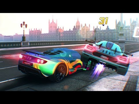 Asphalt 8 – Hennessey Venom GT vs Koenigsegg One:1 (London 32 Racers 17 Laps)
