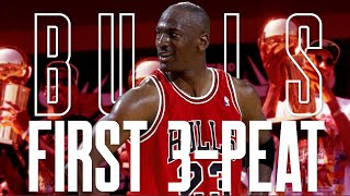 Chicago Bulls First 3-Peat Full Movie - All 3 NBA Finals