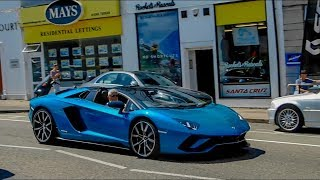 Supercars in sandbanks (911 gt3rs, mercuilago, 720s, 650s and more)