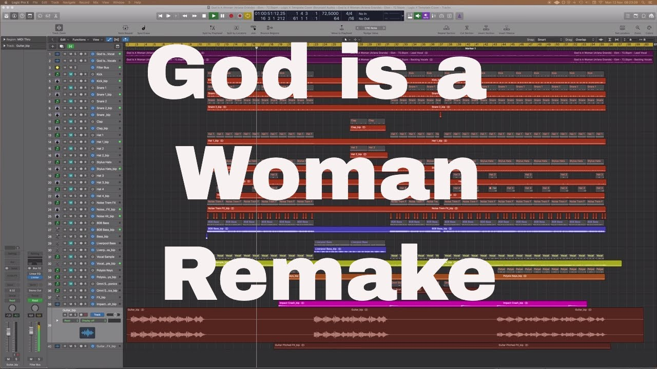 God Is A Woman (Ariana Grande) - Logic X Template Cover