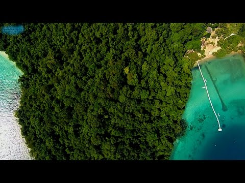 Flying over Koh Rang and Koh Chang Islands Thailand 20142015
