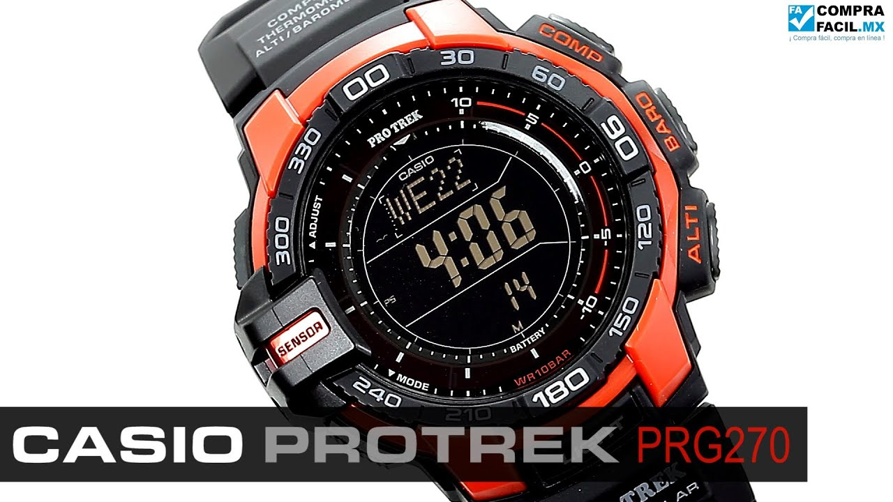 ed9c7a7d8939 Reloj Casio Protrek PRG270 - www.CompraFacil.mx - YouTube