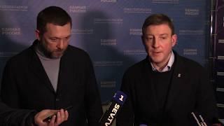 Дмитрий Саблин - первый пресс-подход и представление нового руководителя Единой России в Севастополе