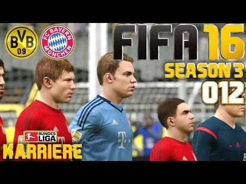 FIFA 16 KARRIERE (SEASON 3) #012: Borussia Dortmund vs. FC Bayern München «» Let's Play FIFA 16