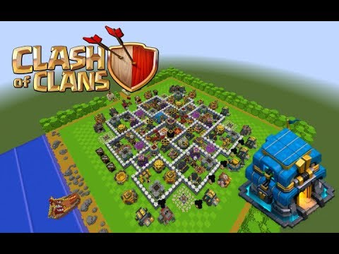 Clash Of Clans Max Th 12 Village In Minecraft