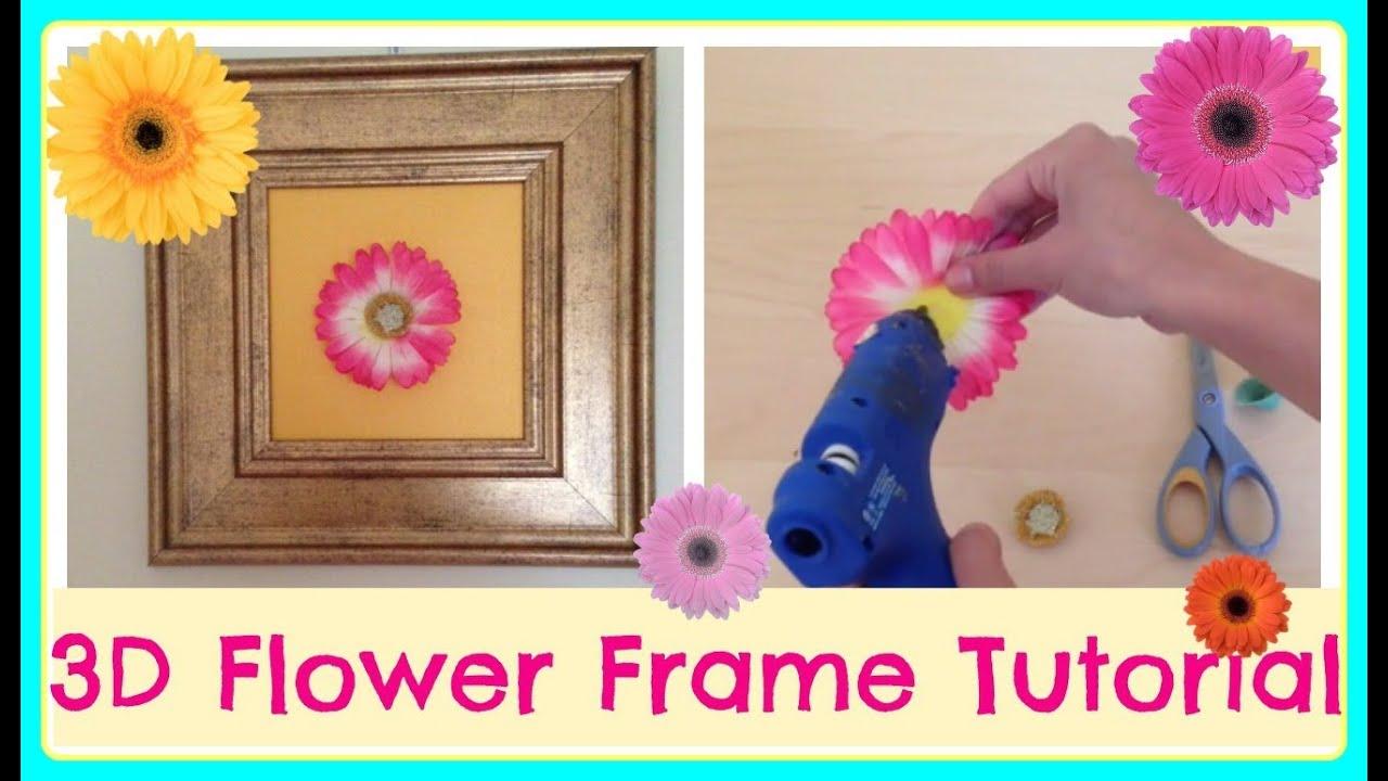 DIY| 3D Flower Frame - YouTube