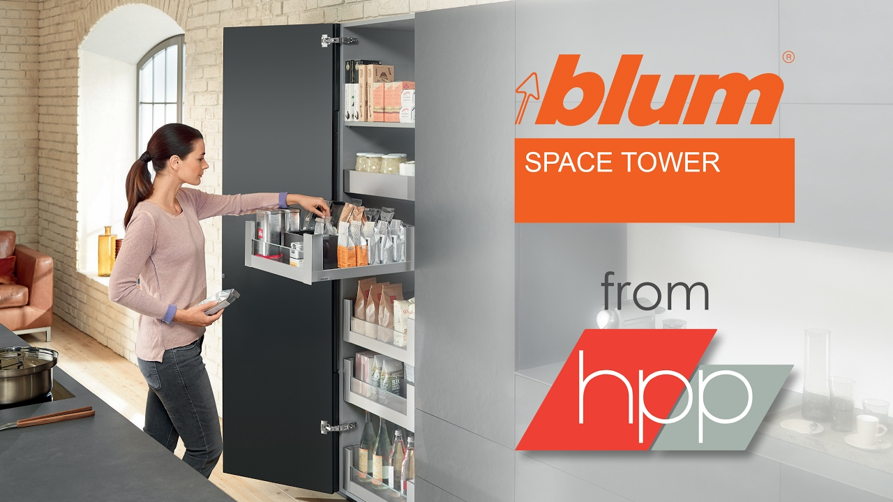 the blum space tower from hpp youtube. Black Bedroom Furniture Sets. Home Design Ideas