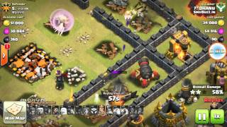 Clash Of Clans TH9 Destroy TH10: Queen walk, MASS VALKYRIE ATTACK for 3 STAR