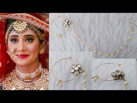 Naira Inspired Nose Ring At Home How To Make Designer Nose Ring