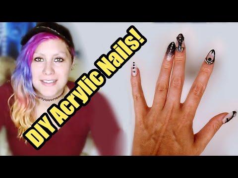 Artist Tries DIY Gothic Acrylic Nails! Kiss Nail Kit! thumbnail