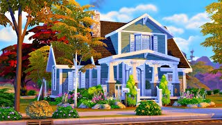 Single Mum \u0026 Daughter Home 🌷 || The Sims 4 Speed Build (No CC)