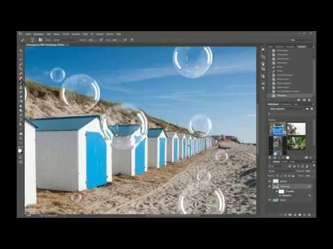 Photoshop Tutorial - Realistische Verzerrung Einfügen - Seifenblasen