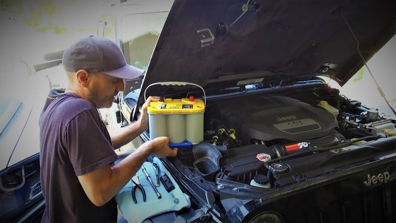 Easy Optima Yellow Top Battery Upgrade For Jeep Wrangler Optima All The Things