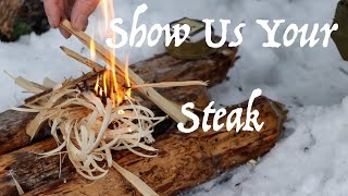Winter Bushcraft and Campfire | Show Us Your Steak | Mental Health | Channel Update