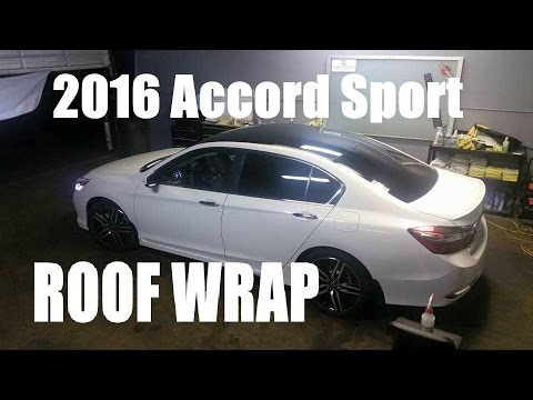 2016 honda accord sport white with black wrap top youtube. Black Bedroom Furniture Sets. Home Design Ideas