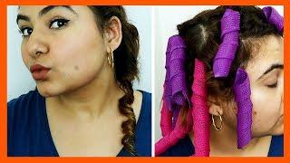 NOHEAT Hair CURLER!?    #KomalTries