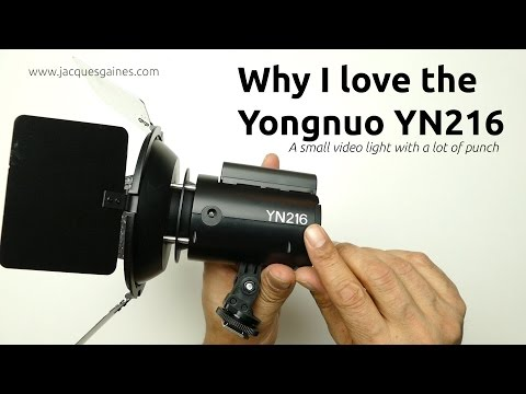 Why I love the Yongnuo YN 216 small video LED light:  by THE MOVING ICON
