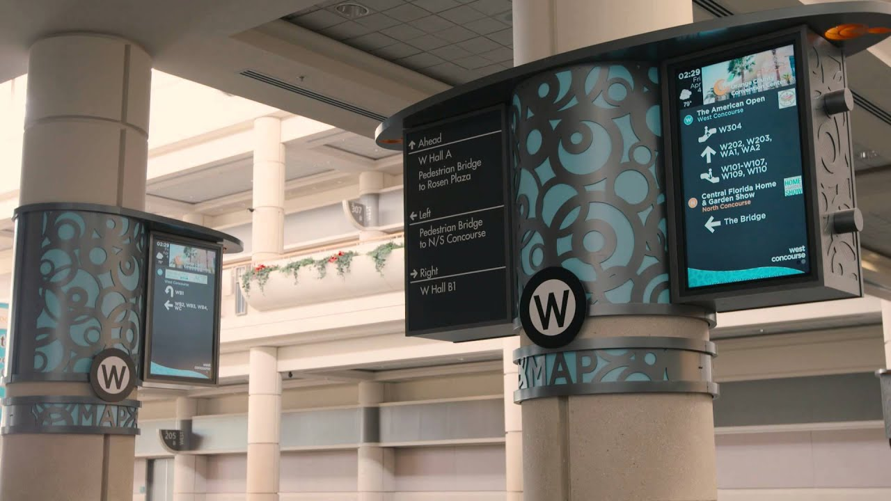 dynamic wayfinding for orange county convention center