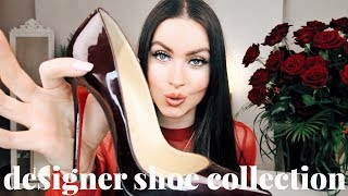 MY DESIGNER SHOE COLLECTION | CHRISTIAN LOUBOUTIN VALENTINO GUCCI & MORE | EMMA MILLER