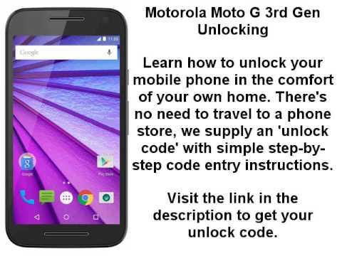Unlock Motorola Moto G 3rd Gen Moto G3 Xt1541 Xt1542 Xt1543