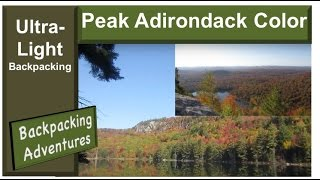 Ultralight Backpacking / Hammock Style - Fall In The Adirondack Mountains