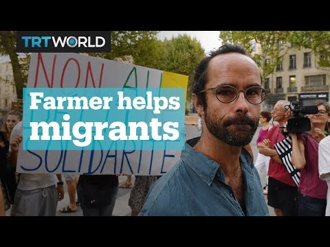 A French farmer was given a suspended sentence for helping migrants