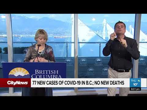 77 New Cases Of COVID-19 In B.C.