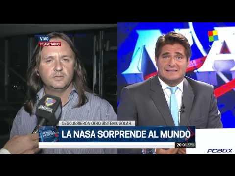 Descubrimiento de 7 exoplanetas (Entrevista en Noticiero América TV)