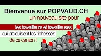POPVAUD.CH / le nouveau site du Parti Ouvrier Populaire Vaudois