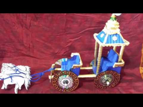 HOW TO MAKE A CHARIOT FROM WASTE CD & MASHROOM BOXES