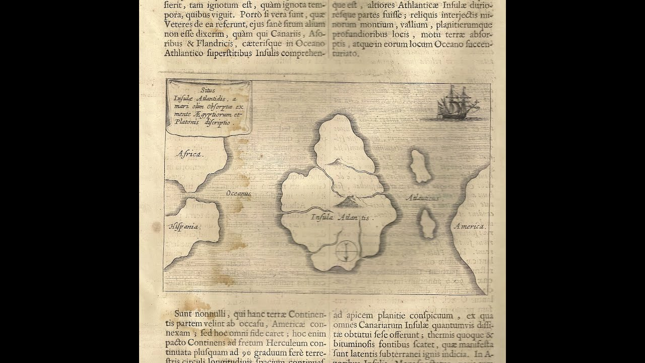 Oldest Map Of America.See The Oldest Map In The World Of Atlantis Youtube